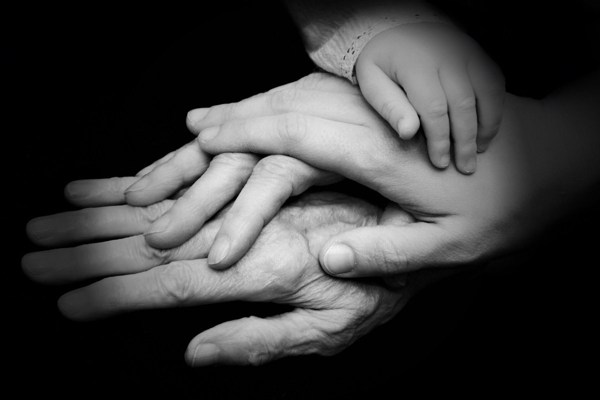Hands of Different Generations